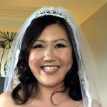Beautiful, relaxed and happy bride